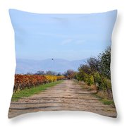 Fall Vineyard Throw Pillow