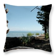 Fallen For Lake Tahoe Throw Pillow