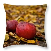 Fallen Fruit Throw Pillow