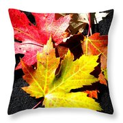 Fallen In The Fall Throw Pillow