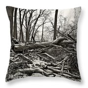 Fallen Soldiers Of The Forest Throw Pillow