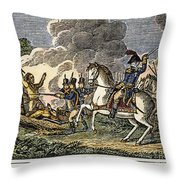 Fallen Timbers Battle Throw Pillow