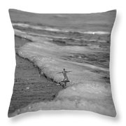 Falling For The Sea Throw Pillow