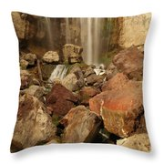 Falling In The Rocks Throw Pillow