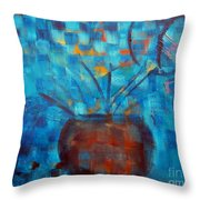 Falling Into Blue Throw Pillow