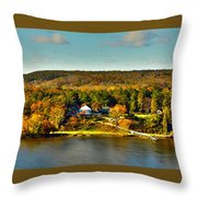 Falling Into Color Throw Pillow