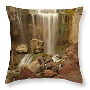Falling Into The Canyon Throw Pillow