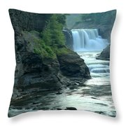 Falling Into The Genesee Throw Pillow