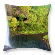 Falling Off The Cliff Throw Pillow