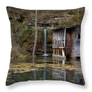 Falling Spring Mill Throw Pillow