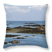 Falling Tide Iles Chausey Throw Pillow