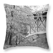 Falling Under The Bridge Throw Pillow
