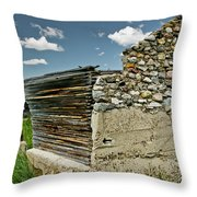 Falling Wall Throw Pillow