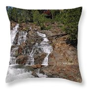 Falling Water Glen Alpine Falls Throw Pillow