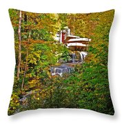 Falling Waters House Setting Throw Pillow