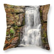 Falls At Bushkill Throw Pillow