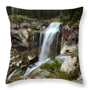 Falls At Newberry Throw Pillow