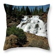 Falls In Site Glen Alpine Falls Throw Pillow