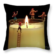 False Alarm Throw Pillow