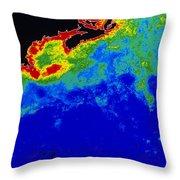 False Col Satellite Image Throw Pillow by Dr. Gene Feldman, NASA Goddard Space Flight Center
