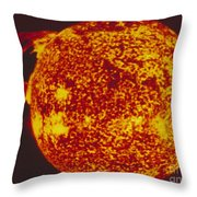 False-col Skylab Uv Image Of Solar Loop Throw Pillow by NASA / Science Source