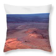 False Color Mosaic Of Greeley Haven Throw Pillow