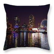 False Creek At Night Throw Pillow