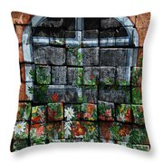False Windowbox Throw Pillow