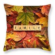 Family-autumn Inpsireme Throw Pillow