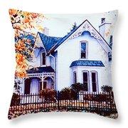 Family Home Portrait Throw Pillow
