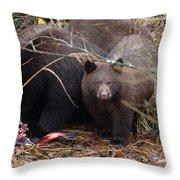 Family Meal Throw Pillow