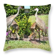 Family Meal Time Throw Pillow