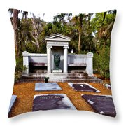 Family Plot Throw Pillow
