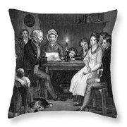 Family Reading, 1840 Throw Pillow