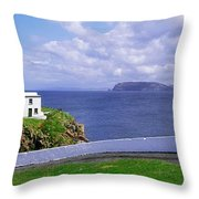 Fanad Head Lighthouse, Co Donegal Throw Pillow