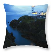 Fanad Head Lighthouse, County Donegal Throw Pillow