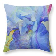 Fanciful Flowers - Iris Throw Pillow