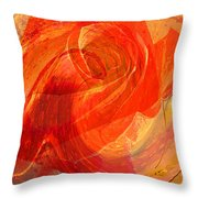 Fanciful Flowers - Rose Throw Pillow