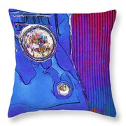 Fancy Dancy Vintage Ford Cabriolet Throw Pillow