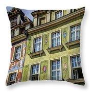 Fancy Facades - Posnan Poland Throw Pillow