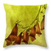 Fancy Foxglove Throw Pillow by Bonnie Bruno
