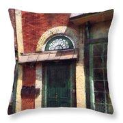 Fancy Green Door Burlington Nj Throw Pillow