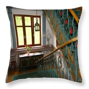 Fancy Stairs Throw Pillow