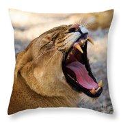Fangs Throw Pillow