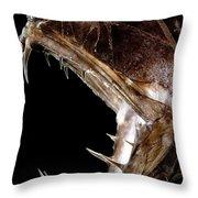 Fangtooth Fish Throw Pillow