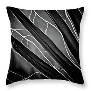 Fanned Leaves Throw Pillow