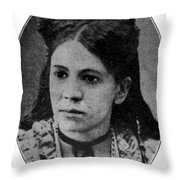 Fanny Jackson Coppin, African-american Throw Pillow