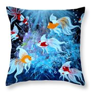Fantailia Throw Pillow