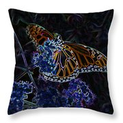Fantasy Butterfly Throw Pillow