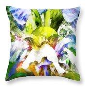 Fantasy Garden Throw Pillow